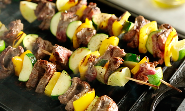 Flank Steak Kebabs with Peanut Sauce
