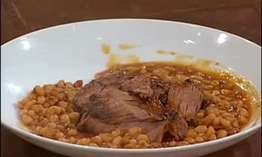 Mesquite Brisket with Beans and Ribs