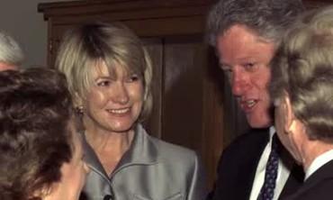 President Clinton Arrives for Dinner