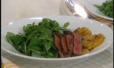 Seared Beef with Oranges and Arugula