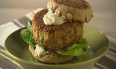 Veggie Burger with Tahini Mayonnaise