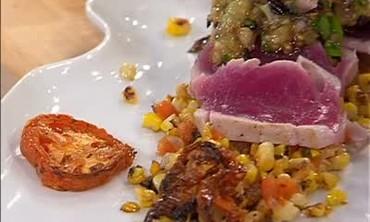 Yellow Fin Tuna and Sweet Corn Salad