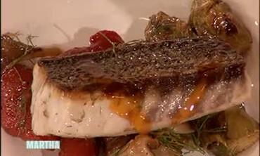 A Healthy Sea Bass and Artichoke Dish