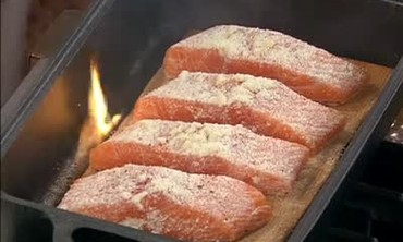 Army Navy Cook Off, Cedar Plank Salmon