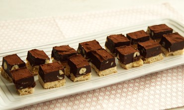 Chocolate-Hazelnut Shortbread Squares