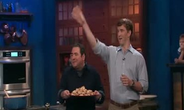 Cooking and Catching With Eli Manning
