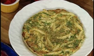 Egg Fritatta with Ziti and Artichokes