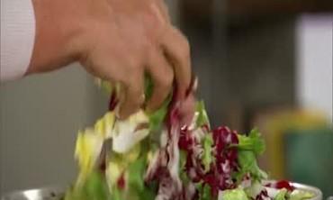 Escarole Salad with Parmesan Dressing