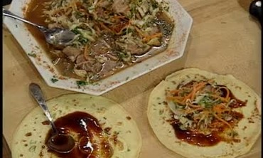 Funky Duck Moo Shu with Tamarin Glaze