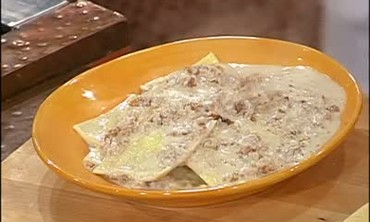 Goat Cheese Ravioli with Walnut Sauce