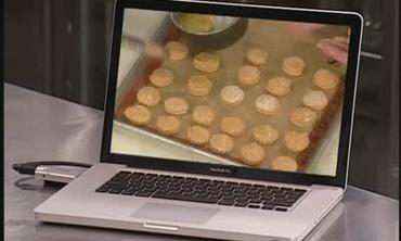Ham on Handmade Sweet Potato Biscuits