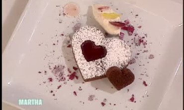 Heart Shaped Chocolate and Beet Cakes