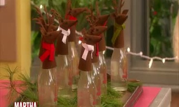 Homemade Holiday Reindeer Wine Topper