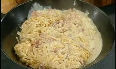 Linguine alla Carbonara with Parmesan