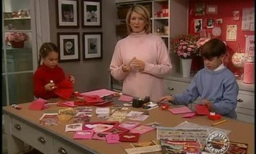 Making Heart Cards for Valentine's Day