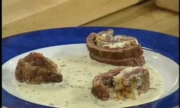 Ribeye Steak with Blue Cheese Roulade