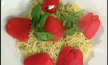 Roasted Red Peppers, Pasta And Mussels