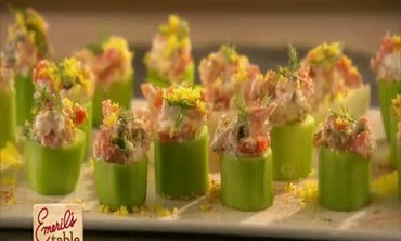 Savory Salmon Spread in Cucumber Cups