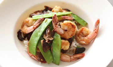 Shiitake, Shrimp, and Snow Pea Stir Fry