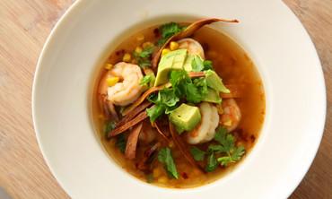 Ten Minute Shrimp and Tortilla Soup