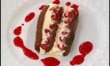 White Chocolate and Raspberry Terrine