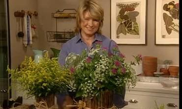 Wildflower Arrangements in Twig Vases