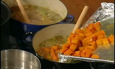 Butternut Squash Soup and Parsnip Soup