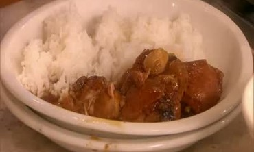 Chicken Adobo with Vegetables and Rice