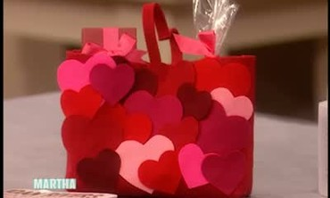 Decorated Valentine's Heart Shaped Bags