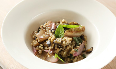Eggplant Salad with Israeli Couscous