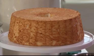 Angel Food Cake with Elderflower Syrup