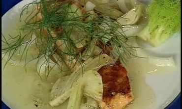 Grilled Fennel Vinaigrette with Salmon