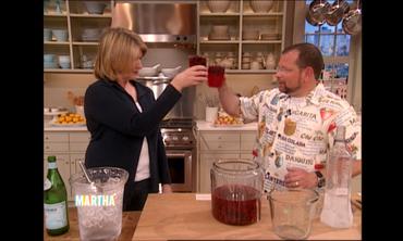 Martha Stewart's Vodka Cherry Mojitos