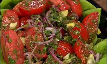 Moroccan Tea and a Simple Tomato Salad