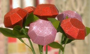 Glittered Paper Roses