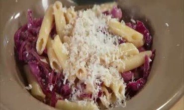 Pasta and Cabbage with Parmesan Cheese