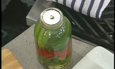 Pickled Vegetables for Garden Martinis