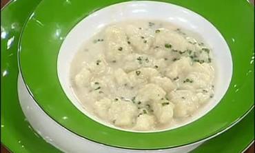 Potato Gnocchi with a Gorgonzola Sauce