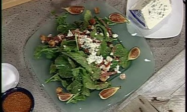 Baby Arugula and Smithfield Ham Salad