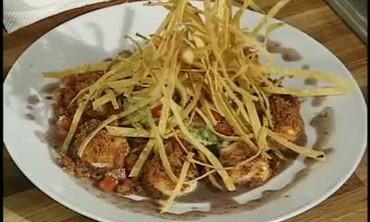 Chorizo Crusted Scallops with Guacamole