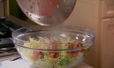 Frisee Salad with Lardons & Poached Eggs