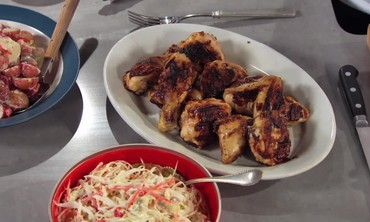Grilled Chicken with Fig Barbecue Sauce