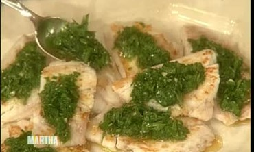 How to Cook Red Snapper with Mint Pesto