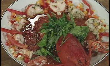 How to Make Lobster Gazpacho with Herbs
