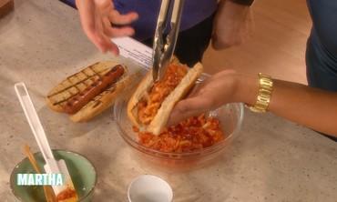 Kimchi Hot Dog with Marja Vongericten