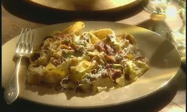 Mario Batali's Fresh Pasta with Pancetta
