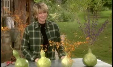 Martha Stewart Makes Bottle Gourd Vases