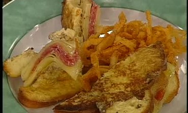 Monte Cristo Sandwich with Fried Onions