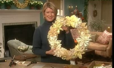 Ribbon Poinsettia Wreaths for Christmas