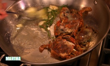 Soft-Shell Crab with Potatoes and Ramps
